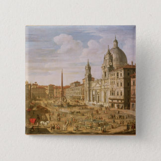 Piazza Navona, Rome, looking South towards Palazzo Pinback Button
