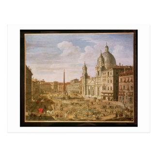 Piazza Navona, Rome, looking South towards Palazzo Postcard