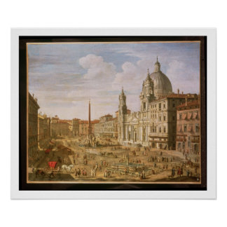 Piazza Navona, Rome, looking South towards Palazzo Poster