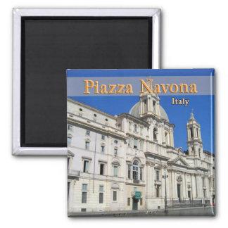 Piazza Novona 2 Inch Square Magnet