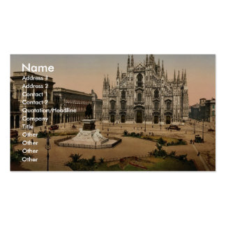 Piazza of the cathedral, Milan, Italy classic Phot Double-Sided Standard Business Cards (Pack Of 100)
