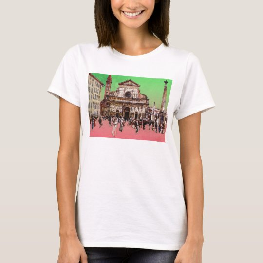 Piazza Painting (Red) T-Shirt