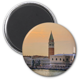 Piazza San Marco at Dusk 2 Inch Round Magnet