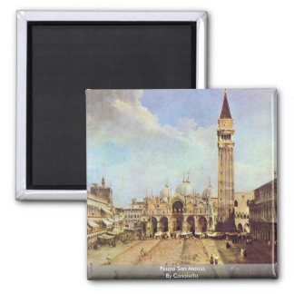 Piazza San Marco. By Canaletto 2 Inch Square Magnet