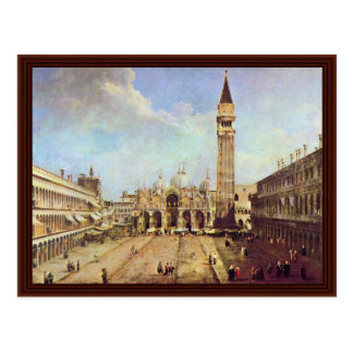 Piazza San Marco. By Canaletto Postcard