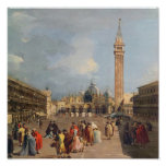 Piazza San Marco, Venice, c.1760 Posters