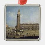 Piazza San Marco, Venice Square Metal Christmas Ornament