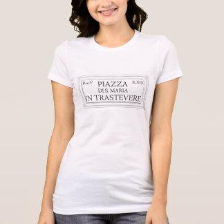 Piazza Santa Maria in Trastevere, Rome Street Sign T-Shirt