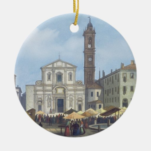 Piazza Santo Stefano from 'Views of Milan and its Ornament