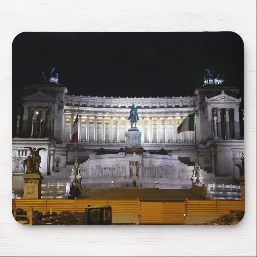 Piazza Venezia at night Mouse Pads