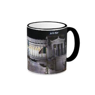 Piazza Venezia at night Ringer Coffee Mug
