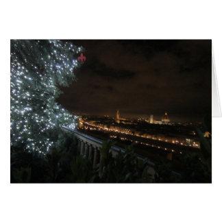 Piazzale Miguel Ángel en Christmastime Tarjeta De Felicitación