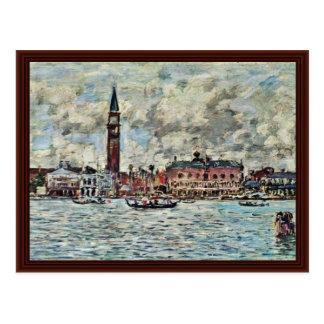 Piazzetta de San Marco en Venecia de Boudin Eugène Postal