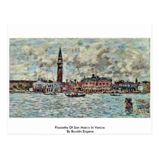 Piazzetta de San Marco en Venecia de Boudin Eugène Tarjetas Postales
