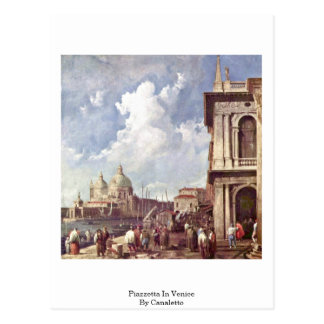Piazzetta In Venice By Canaletto (Ii) Post Cards