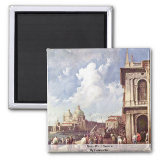 Piazzetta In Venice By Canaletto Magnet