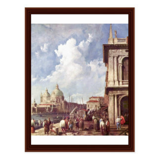 Piazzetta In Venice By Canaletto Postcards