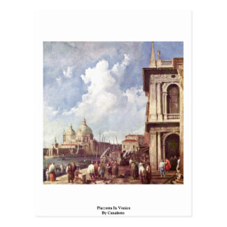 Piazzetta In Venice By Canaletto Post Card