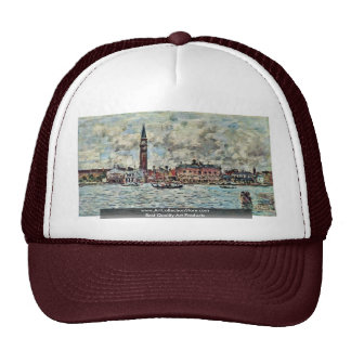 Piazzetta Of San Marco In Venice By Boudin Eugène Trucker Hat