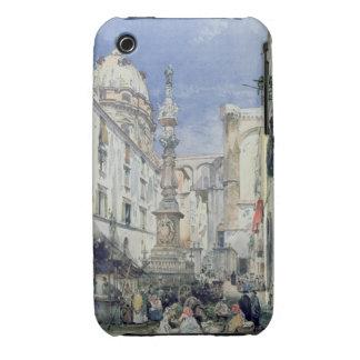 Piazzetta Riario Sforza, 1849 (w/c on paper) iPhone 3 Case-Mate Case