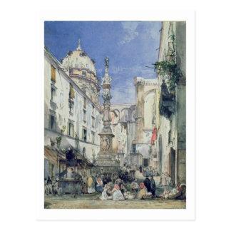 Piazzetta Riario Sforza, 1849 (w/c on paper) Postcard