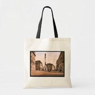 Piazzi di Spagna, Rome, Italy classic Photochrom Budget Tote Bag