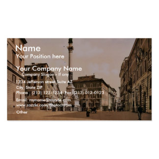 Piazzi di Spagna, Rome, Italy classic Photochrom Double-Sided Standard Business Cards (Pack Of 100)