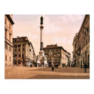 Piazzi di Spagna, Rome, Italy classic Photochrom Post Card