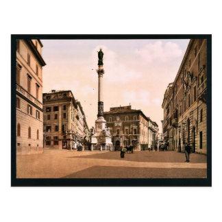 Piazzi di Spagna, Rome, Italy classic Photochrom Postcard