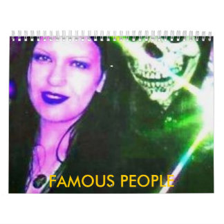 pic006 FAMOUS PEOPLE Wall Calendars
