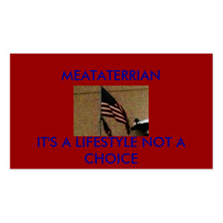 pic006, MEATATERRIAN, IT'S A LIFESTYLE NOT A CH... Double-Sided Standard Business Cards (Pack Of 100)