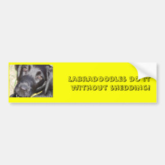 pic4, Labradoodles do it without shedding! Bumper Sticker