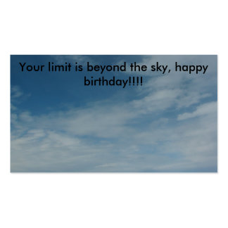 PIC_0336, Your limit is beyond the sky, happy b... Business Card