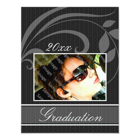 Pic Black Open House Party Graduation Invitations