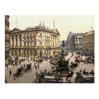 Picadilly Circus, London c.1895 Postcard
