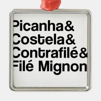 PICANHA, RIB, CONTRAFILÉ, MIGNON METAL ORNAMENT
