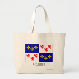 Picardie flag with name canvas bags