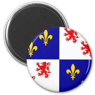 Picardie, France 2 Inch Round Magnet