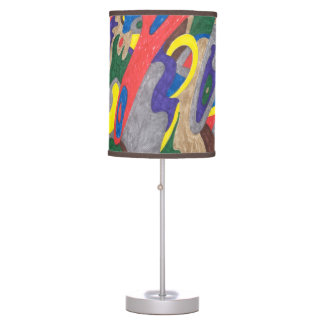"""""""Picasso Cat"""" Abstract Art Table Lamp"""
