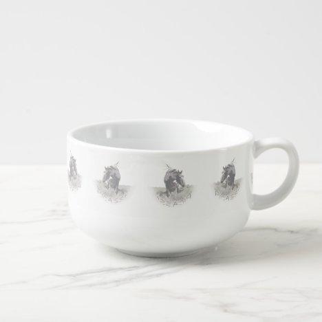 Picasso, Icon of Sand Wash Basin, Colorado Soup Mug