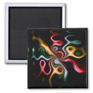 Picasso Rose 2 Inch Square Magnet
