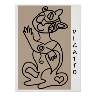 PICATTO black on buff Poster
