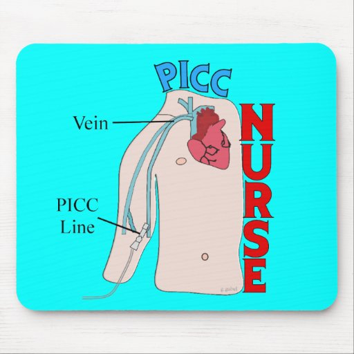 PICC Line Nurse Anatomical  Design Gifts Mouse Pad