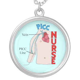 PICC Line Nurse Sterling Pendant