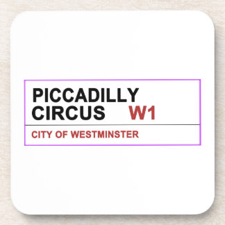 Piccadilly Circus London Beverage Coaster