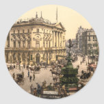 Piccadilly Circus, London, England Classic Round Sticker