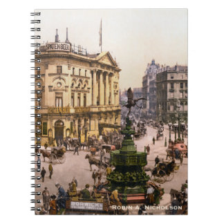 Piccadilly Circus London England Personalized Notebook