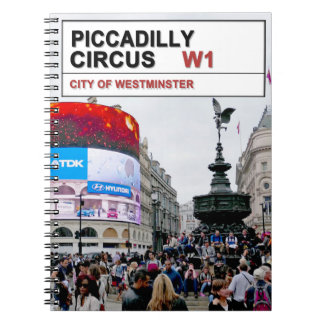 Piccadilly Circus London Spiral Note Book