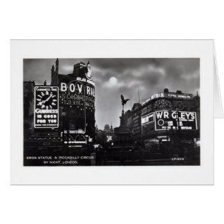 Piccadilly Circus, London Vintage Card