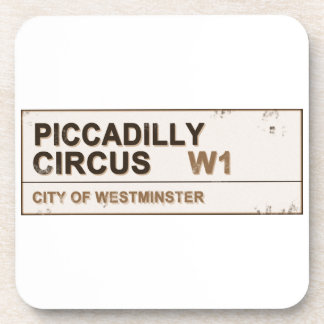 Piccadilly Circus London - Vintage Coaster